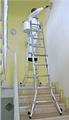 Gelenk-Teleskopleiter mit Holverlängerung