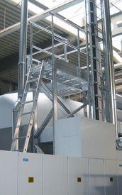 stationäre Sonderbau Arbeitsbühne aus Aluminium