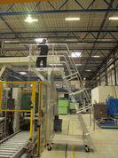 Sonderbau Aluminium Plattformtreppe, fahrbar