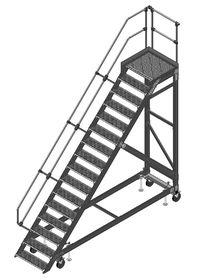 fahrbare Plattformtreppe aus Aluminium