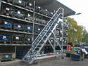 Aluminium Sonderlösung Plattformtreppen, fahrbar